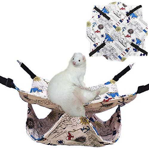 matte, Sommer Sugar Glider Bettwäsche Bunkbed Chinchilla Bed Rat Home Frettchen Hängematte Meerschweinchen Käfig Zubehör für Kleintiere, Golden Bear Degu Eichhörnchen ()
