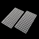Wetrys 6 Pcs Grid Divider Tray Isolate Board Fish Tank Bottom White Filter Tray Aquarium Crate 10