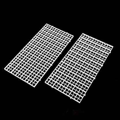Wetrys 6 Pcs Grid Divider Tray Isolate Board Fish Tank Bottom White Filter Tray Aquarium Crate 5