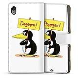 Sony Xperia M4 Aqua Tasche Hülle Flip Case Uli Stein Fanartikel Merchandise Dagegen