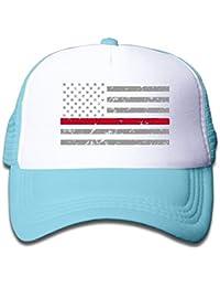Gorra de malla ajustable con diseño de bandera de Estados Unidos para niños  ... 1059722748f