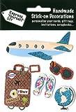 DIY Luxus- 3D-Sticker Urlaub Flugzeug Glitter
