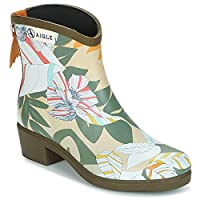 Aigle Miss Juliette BOTTILLON Print Boots Women Kaki/Multicoloured Wellington Boots