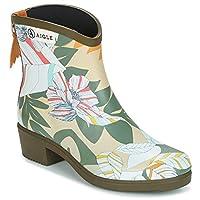 Aigle Miss Juliette BOTTILLON Print Boots Women Kaki/Multicoloured Wellington Boots