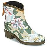 Aigle Miss Juliette BOTTILLON Print Boots Women Kaki/Multicoloured - UK:3 - Wellington Boots