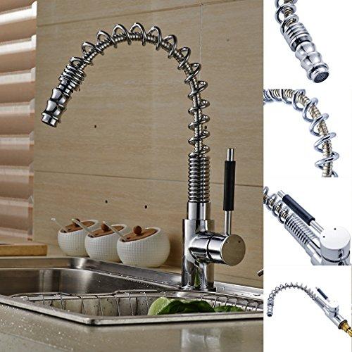 Auralum® 2 Jahre Garantie Mischbatterie Herausziehbar Küchearmatur Armatur Wasserhahn für Waschbecken Küche Spüle