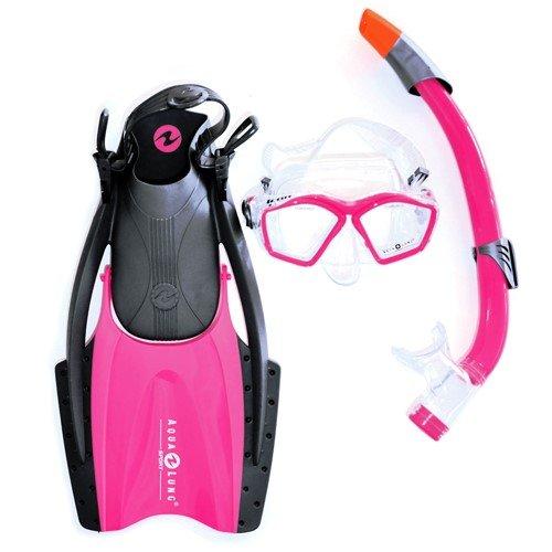 Aqua Lung Sport Schnorchel-Set, schwarz, Größe S–M