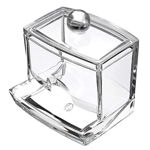8.5 7cm Chytaii Caja de Hisopo de Algod/ón con Tapa Caja Palillo de Dientes Organizador de Hisopo de Algod/ón Caja de Almacenamiento de Almohadilla de Algod/ón Transparente 9