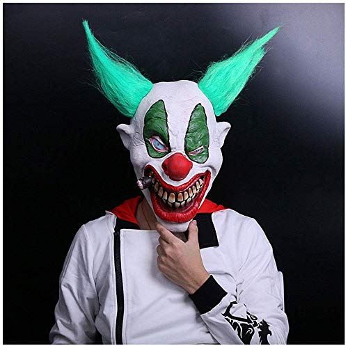 YaPin Halloween Horror Funny Clown Latex Maske Kopfbedeckungen Horror Maske Party Requisiten Live