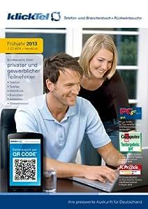 klickTel Telefon- und Branchenbuch inkl. Rückwärtssuche Frühjahr 2013