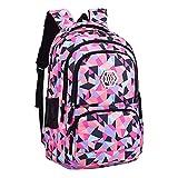 M-hwbb Wasserdichter Schulrucksack für Mädchen Middle School Cute Bookbag Daypack für Frauen Rhombus (Farbe : Style A)
