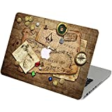 Elton Assassin's Creed IV Black Flag Caribbean Map Apple Mac-book Air 13 Inch 3M Skin With Apple Logo Cut