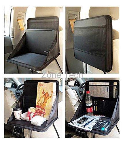 Preisvergleich Produktbild Zone Tech faltbar Automotive Rückseite des Sitz Laptop-Halter Essen Tablett Tisch schwarz