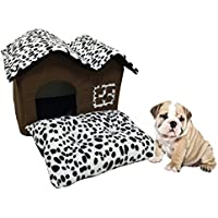 LA VIE Casa Doble para Mascotas Lujo Alto-Final Cueva de Gato Plegable Extraíble con