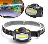 #8: AGE CARE 1 Pack Mini COB LED Headlamp 3 Mode Head Lamp 3W Portable Flashlight Headlight Waterproof Outdoor Running Hunting Fishing Climbing Camping Bright Light