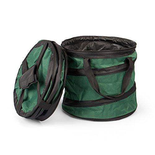 Fundwerk Pop-up Garten-Abfallsack 15 Liter im 2er Set, Die Gartenabfallsäcke sind bestens geeignet als Laubsack und für Grünschnitt, dunkelgrün