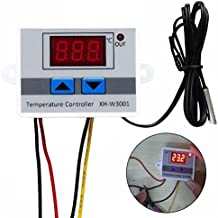 JZK® 220V Controlador de Temperatura Doble Relés con Sensor, Termostato Enfriamiento y Calefacción Con NTC impermeable Sensor Para el tanque de agua, refrigerador, incubadora, caldera, vapor, Congelador, etc