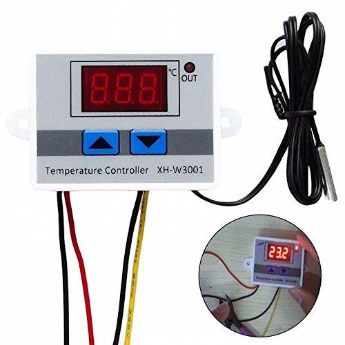 JZK® 220V Heizung & Kühlung digital Temperature Controller Temperaturregler Thermostat mit wasserdichter NTC Sensor Sonde für Wassertank, Kühlschrank, Inkubator, Kessel, Dampf, Gefrierschrank