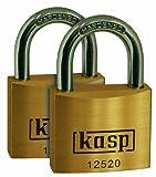 Kasp 125 Premium Brass Padlock 20mm Twin