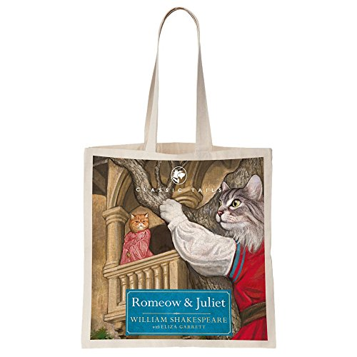 Romeow and Juliet Beautifully Illustrated Totebag