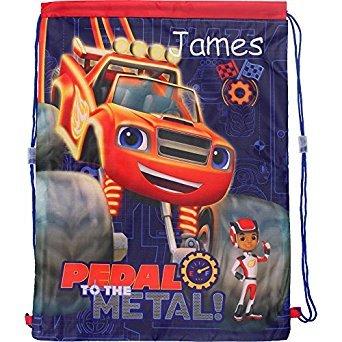 personalisierbar Blaze und die Monster Maschinen die Pedale treten. Kordelzug Schule Sport Turnbeutel (Monster Truck Schwimmen)