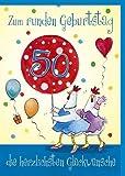 Witzige A4 Geburtstagskarte 50