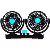 Automóvil eléctrico del ventilador ventilador/CAR/coche/furgoneta camión grande ventilador ventiladores, aire acondicionado de doble cabezal 12V