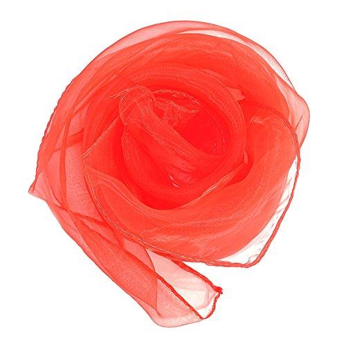 MerssavoFarbe 2 Mode Frauen Dame Plain Chiffon Neck Schal Schals Wrap Weiche Stola Schal (Square Sheer Schal)
