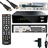 Edision Proton LED Full HD Satelliten-Receiver FTA HDTV DVB-S2 (HDMI, USB 2.0,Scart,Display) Deutsch vorprammiert inkl.Wlanabel und HDMI Kabel