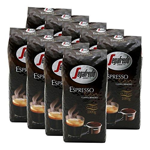 9x SEGAFREDO ESPRESSO CASA (ganze Bohnen / 1000g)