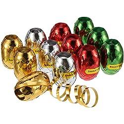 12 Piezas de Cinta de Serpentina de Navidad para Decoración de Navidad, Manualidades, Embalaje de Regalo, Boda, Fiesta (Multicolor B)