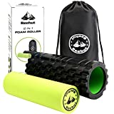 "Reehut 2-in-1 Foam Roller specialises in: ✔ Textured Design Targets Tight Tissue ✔ Hard-wearing, durable + easy to use ✔ Includes E-BOOK + carrying case ✔ Two pressure control options ✔ Portable + Lightweight  ✔ Measure 13"" x 5.5"" with an inner foam ..."