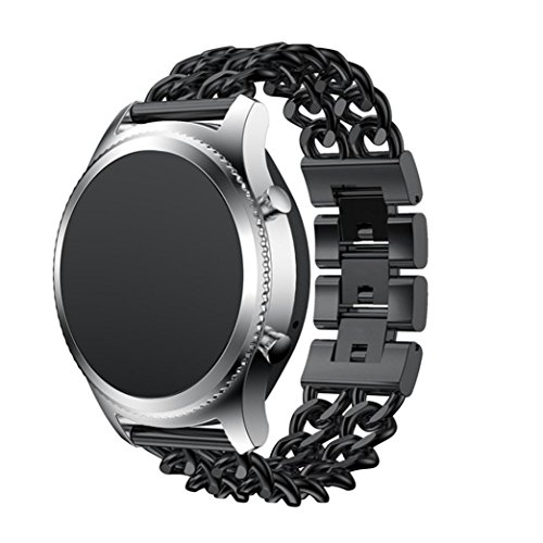Uhrenarmband für Samsung Gear S3, Edelstahl Ersatz Band Armband Armband vneirw (Perforierte Leder-plattform)