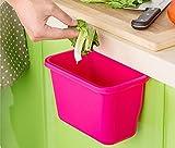 Ducomi MangiAvanzi - Recipiente para recoger la basura. Se engancha a una puerta o cajón (Rosa)