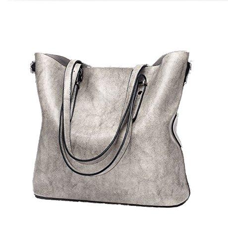 3d9d43563d54d Seeyoulife Damen Leder Elegant Mode Große Handtasche Europäische stil Schultertaschen  Umhängetasche Shopper Tasche Henkeltasche Beuteltasche Weich