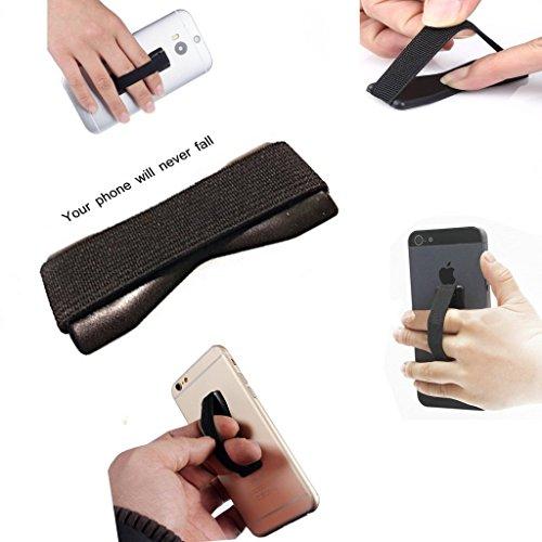 I-Sonite (schwarz) Universal Anti-Rutsch-Gummi-Finger-Handy-Griff-Halter für Huawei Mate 10 Porsche design