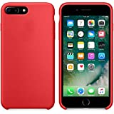 Funda iPhone 8 Plus, Fuleadture iPhone 7 Plus Slim Líquido de Silicona Gel Carcasa Alta Cali...