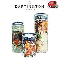Mucha Set Of 3 Ceramic Art Tea Light Holders With Candles Dartington Beswick
