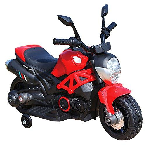 kidfun Moto Motocicletta Elettrica per Bambini 6V Rossa