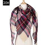Hmeili Schals Winter Schal Frauen Schal Soft TartanSchalPlaid Decke Schals Dreieck