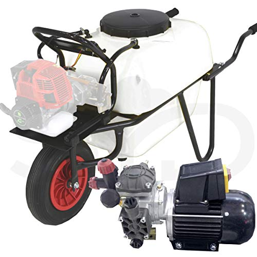 Carretilla sulfatadora 100L. Motor eléctrico 1cv y bomba de membrana