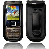 caseroxx Handy-Tasche für Nokia 6300 aus Echtleder, Handy-Hülle mit Sichtfenster aus schmutzabweisender Klarsichtfolie und Clip