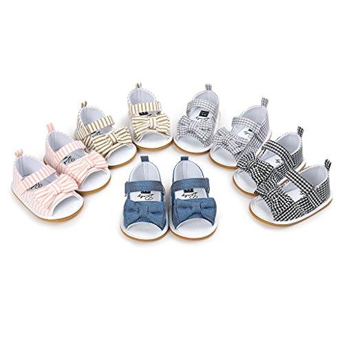 Gazechimp Baby Mädchen Baby sandalen Sommer anti-Rutsch Weiche Sohle Schuhe Grau