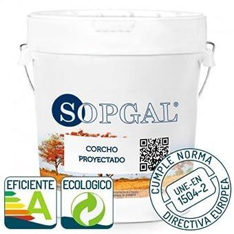 Pintura de Corcho Proyectado natural Sopgal - 15 Ltr, 5-Natural, Liso normal