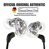 QKZ® VK1 4DD Auriculares in-ear HIFI DJ- Monito Running Sport Auriculares de bajo con micrófono cable reemplazado