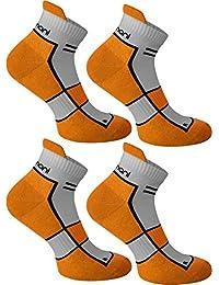 4 Paar Running Sport Sneaker Funktionssocken mit Frotteesohle verstärkt