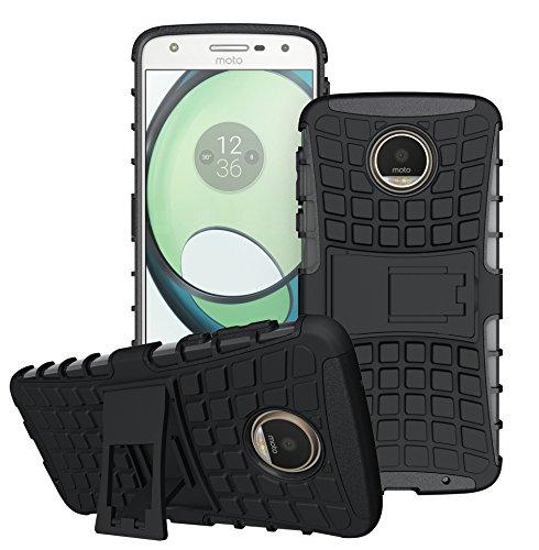 Moto Z Play Handy Tasche, FoneExpert® Hülle Abdeckung Cover schutzhülle Tough Strong Rugged Shock Proof Heavy Duty Case Für Lenovo Moto Z Play + Displayschutzfolie