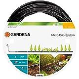 Gardena 136220 Tuyau d'irrigation à goutteurs intégrés 15 m - 4.6 mm, Orange