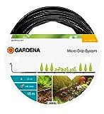 GARDENA Micro-Drip-System Tropfrohr oberirdisch 4.6 mm (3/16): Tropfschlauch zum oberirdischen Verlegen, wassersparend, hochflexibel, 15 m (1362-20)