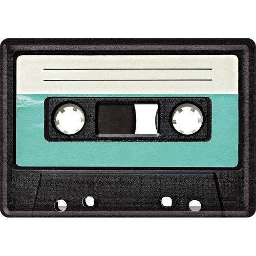 Nostalgic-Art 10214 Retro Wave - Retro Cassette, Blechpostkarte 10x14 cm (Kassette Tape Art)